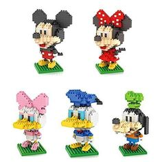 5box LOZ Diamond Block Mickey Mouse Donald Duck Micky Minny Goofy Toys 1190pcs Parentchild Games Building Blocks Childrens Educational Toys -- Want to know more, click on the image.