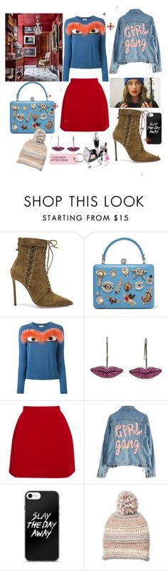 """""""Untitled #107"""" by mariaandradima ❤ liked on Polyvore featuring Oscar Tiye, Alexander McQueen, Fendi, Delpozo, High Heels Suicide, Steve Madden and Various Projects"""