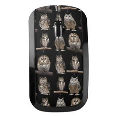 #wood - #Owls Wireless Mouse