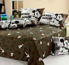 MM 1928 Disney Mickey Mouse Single Comfortable Quilt Cover Kids Bedding Set