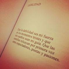 Debilidad... By Carlos Ann ...un lindo poema!!