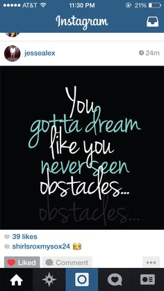 Obstacles... Cole