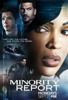 Minority Report TV show - can see murders before they happen-looking forward to it... (2015).