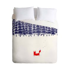 We might not know what the fox says, but we sure do know he protects his territory. The Lone Sentinel Duvet Cover shows a quiet, stark landscape with a single fox turned pensively back toward the wood....  Find the Lone Sentinel Duvet Cover, as seen in the Duvet Covers Collection at http://dotandbo.com/category/bed-and-bath/bedding/duvet-covers?utm_source=pinterest&utm_medium=organic&db_sku=P29036