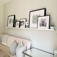 This display shelf is a perfect way to show paintings, photos and other favourite items. Use several and create a whole wall with art and memories. Display Shelves Ikea, Floating Shelves Bedroom, Room Shelves, Living Room Wall Shelves, Ikea Picture Ledge, Picture Shelves, Photo Shelf, Living Room Photos, Living Room Decor