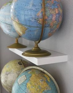 Jami Wade decorates her home with maps and globes. She used to be a history teacher. The Lee Street home won Jefferson City's June 2016 Golden Hammer award.