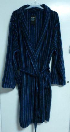 Savile Row Company Mens Multi Stripe Super Soft Dressing Gown