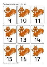 Red squirrel number cards 0-100 (SB9051) - SparkleBox