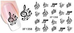 Nails - NAIL ART - WATER TRANSFER - MUSIC for sale in Virginia (ID:219574940) Water Transfer, Music Notes, Diy Design, Nail Art, Nails, Creative, Virginia, Stuff To Buy, Image