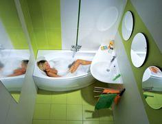 tiny bathroom Kreative Konzepte Ideen Home Design Badezimmer Deko - Traum Kleine Badezimmer Deko Ideen Bilder Foto 22 Small Bathroom Layout, Very Small Bathroom, Small Bathtub, Tiny Bathrooms, Tiny House Bathroom, Simple Bathroom, Modern Bathrooms, Diy Bathroom Decor, Bathroom Ideas