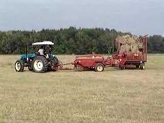 New Holland TN65 baling hay