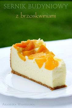 Cheesecake pudding with peaches - recipe Fruit Recipes, Cheesecake Recipes, Baking Recipes, Dessert Recipes, Cheesecake Pudding, Easy Homemade Desserts, Delicious Desserts, Yummy Food, Fudge Pie