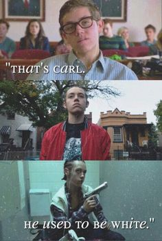 carl gallagher when he turned into a badass Shameless Memes, Watch Shameless, Carl Shameless, Shameless Characters, Shameless Mickey And Ian, Shameless Season, Shameless Tv Show, Ian And Mickey, Movies Showing