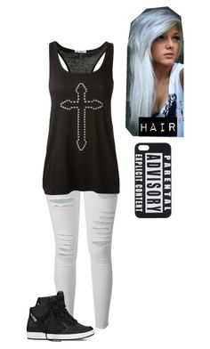 """Bored Out of My Mind ~Raven~"" by basket-case47 ❤ liked on Polyvore featuring Frame, Reis, Converse, Keratin Complex, UNIF, casual and outfit"