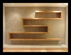 Bookshelf Design, Wall Shelves Design, Creative Bookshelves, Reclaimed Wood Floating Shelves, Wooden Shelves, Home Furniture, Furniture Design, Living Room Tv Unit Designs, Diy Home Decor