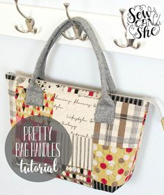 Like this zipper-top tote bag. Would be good to include a big pocket between the handles on the outside, and maybe use two fabrics for the outer (one for the pocket and one for the outer edges!