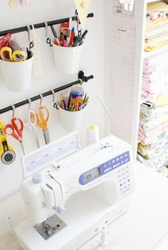 The Messy Jessie Sewing Room! If you're in need of craft storage ideas for your craft room then this list is exactly what you need to read!
