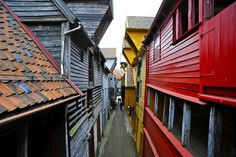 Bryggen in Bergen - first visit to Norway.