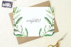 Wedding Congratulations Card. Congrats Grad. Congrats Card. Congrats Baby. Blank Card. Pregnancy Congratulations. Congratulations Gift.