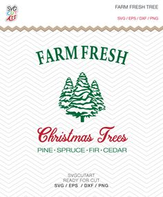 Farm Fresh Christmas Tree SVG DXF PNG eps winter Holidays Cut File for Cricut Design, Silhouette studio, Sure A Lot, Makes the Cut by SvgCutArt on Etsy