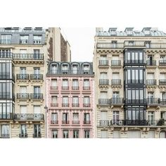 "Kavka ""The Pink Apartment Building, Paris"" Photographic Print Size: 18"" H x 24"" W x 0.01"" D"