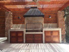 Grill Gazebo, Patio Grill, Pergola Patio, Outdoor Kitchen Grill, Outdoor Kitchen Design, Kitchen Decor, Parrilla Exterior, Barbecue Design, Chile