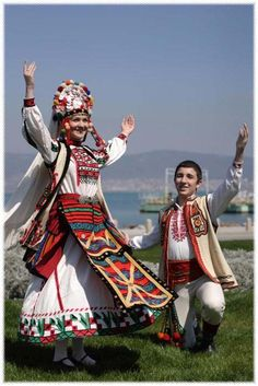 Bulgarian traditional Slavic costumes by region Middle East Culture, Legends And Myths, Folk Dance, Folk Embroidery, Folk Costume, Bulgarian, Eastern Europe, Ethnic Fashion, Traditional Dresses