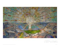 The Sun Lithograph by Edvard Munch at AllPosters.com