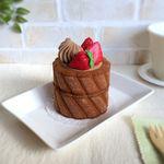 キャラメルロールケーキの小物入れ