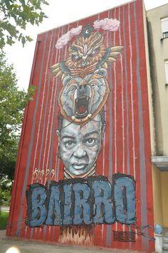 Street Art, Arte Urbana, Graffiti, O Bairro i o Mundo, Quinta do Mocho, Sacavém, Loures, Portugal, Coletivo Rua + Third.