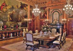 The Elms, Dining Room.