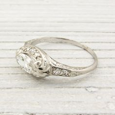 .75 Carat Vintage Marquise Diamond Engagement Ring | New York Vintage & Antique Estate Jewelry – Erstwhile Jewelry Co NY