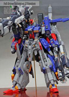 GUNDAM GUY: 1/72 Full Armor Enhanced ZZ Gundam - Painted Build
