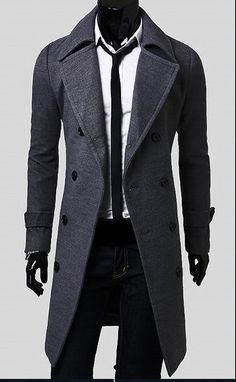 Man Spring New Fashion Trench Coat Men Spring Long Coat Suit Men Wool Coat Men Overcoat Outerwear
