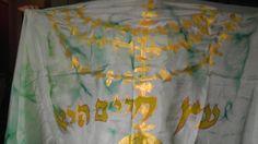 Temple Menorah Silk Tallit by rivkasari on Etsy, $110.00
