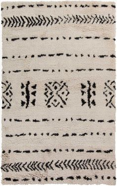 Mistana Sarvis Handwoven Flatweave Wool Ivory/Black Area Rug Rug Size: Rectangle x Rugs Usa, Dot And Bo, Throw Rugs, Stores, All Modern, Decoration, Blue Area Rugs, Rug Size, Wool Rug
