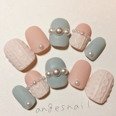 """寒い日は爪先にもニットを着せて。""""ニットネイル""""のデザインブック♡ – LOLL(ロール)"""