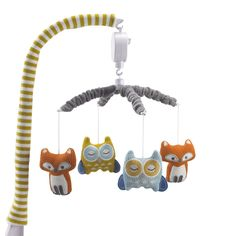 Lolli Living Woods Fox and Owl Musical Mobile You'll Love | Wayfair