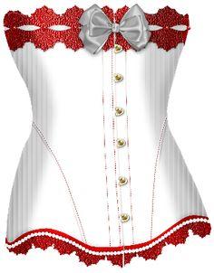 White Bow Corset