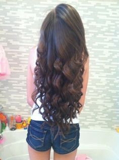 Long curled hair for the wedding - I hope my hair will be this long in time for May!