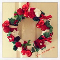 Crochet Christmas wreath : the crochet owl