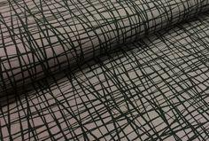 """Stoff grafische Muster - BW Jersey """"SCAFFOLDING"""" dunkelgrau-schwarz - ein Designerstück von Die-Stofftante bei DaWanda"""