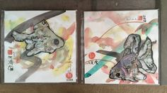 Vintage Goldfish Paintings Set of 2 WatercolorMixed by ArtBarn