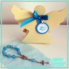 Dezena e embalagem em forma de anjinho - lembrança de batismo + info Facebook message or email storin@sapo.pt