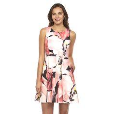Women's Apt. 9® Watercolor Fit & Flare Scuba Dress