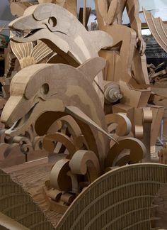 Amazing cardboard sculpture