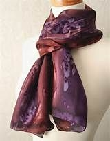 Silk Scarf Hand Dyed in Beautiful