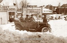 #ThrowbackThursday I don't know if I should look at the car or that SNOW!