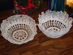 DIY flower girl basket instructions - with lace doily, fabric stiffener
