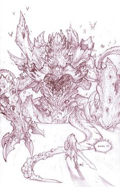 Concept art - Darksiders - from Joe Madureira - Creativity UP Joe Madureira, Comic Book Girl, Comic Books Art, Monster Sketch, Character Art, Character Design, Medieval, Cool Monsters, Comic Kunst